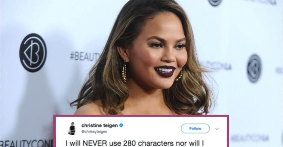Here's Why Chrissy Teigen Is Boycotting Twitter's New 280 Character Limit