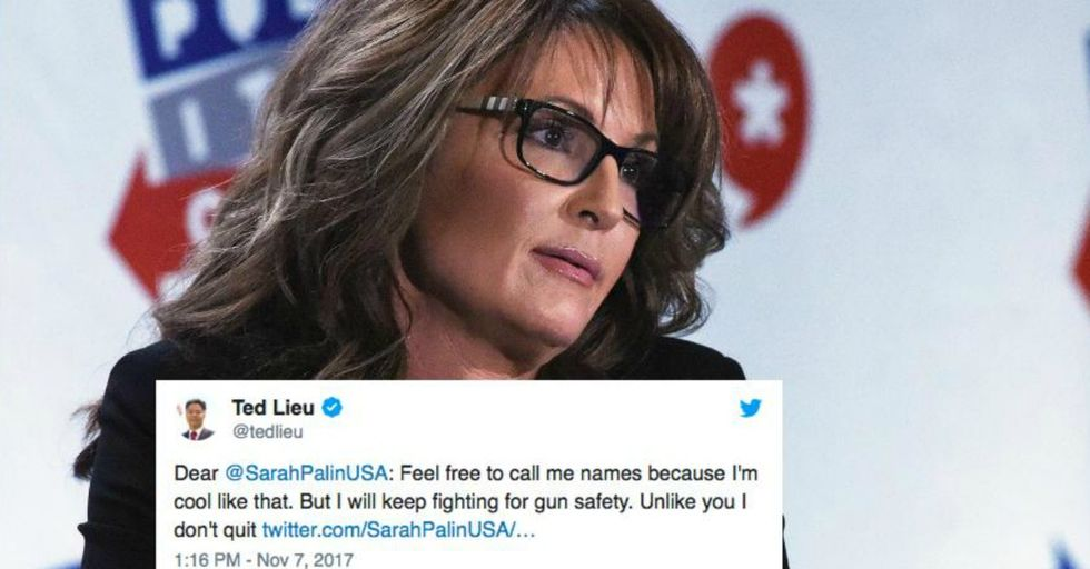 Sarah Palin Tried to Attack Congressman Ted Lieu for His Stance on Gun Control, but She Had No Idea That This Would Happen
