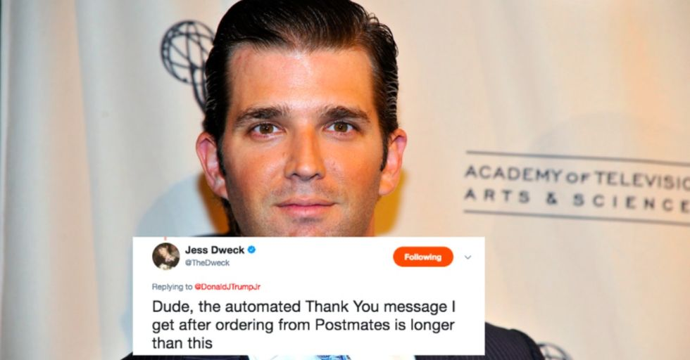 Here's the Awkwardly Sad Thank You Note That Donald Trump Jr. Got from His Dad After the Election