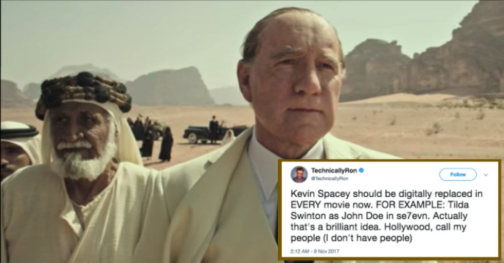 Kevin Spacey Is Being Replaced in Ridley Scott's New Film Just a Month Before Its Premiere