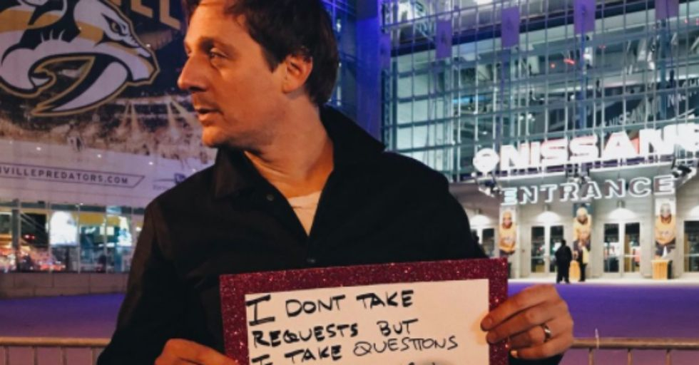 Country Star Sturgill Simpson Wasn't Invited to the CMAs, so He Played in the Streets Instead