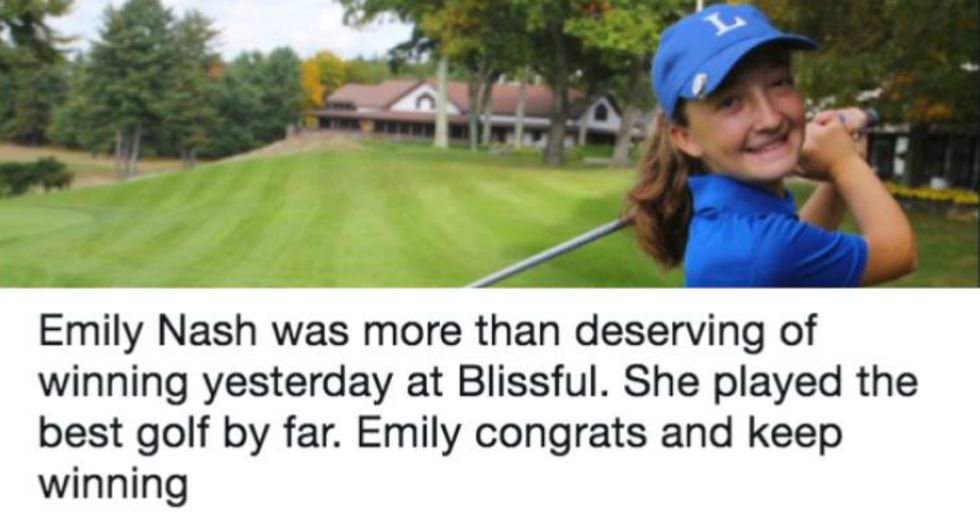 First Place Trophy Denied to Female Golfer After She Beats Everyone In Boy's Tournament