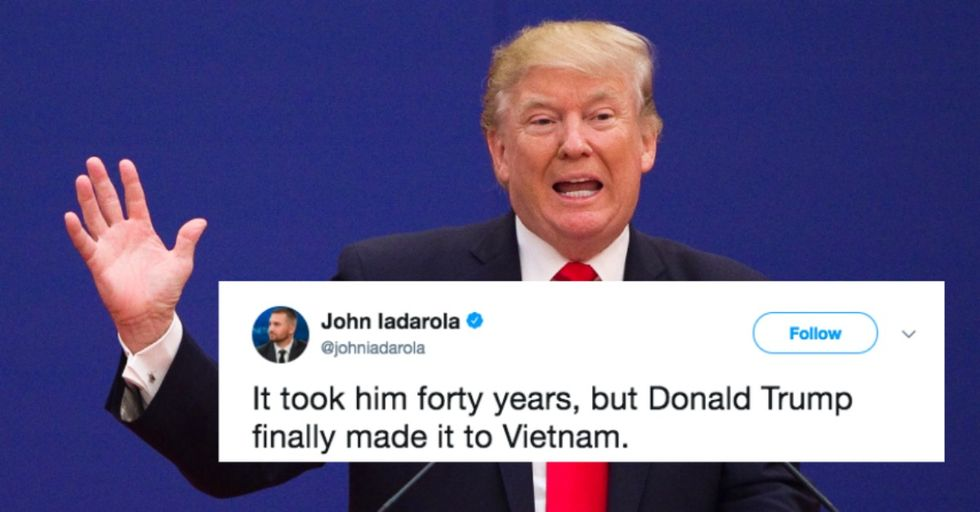 Trump Finally Made It to Vietnam and Twitter Had a Field Day