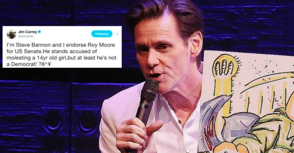 Jim Carrey Was so Furious About Steve Bannon That He Created This Crazy Piece of Artwork