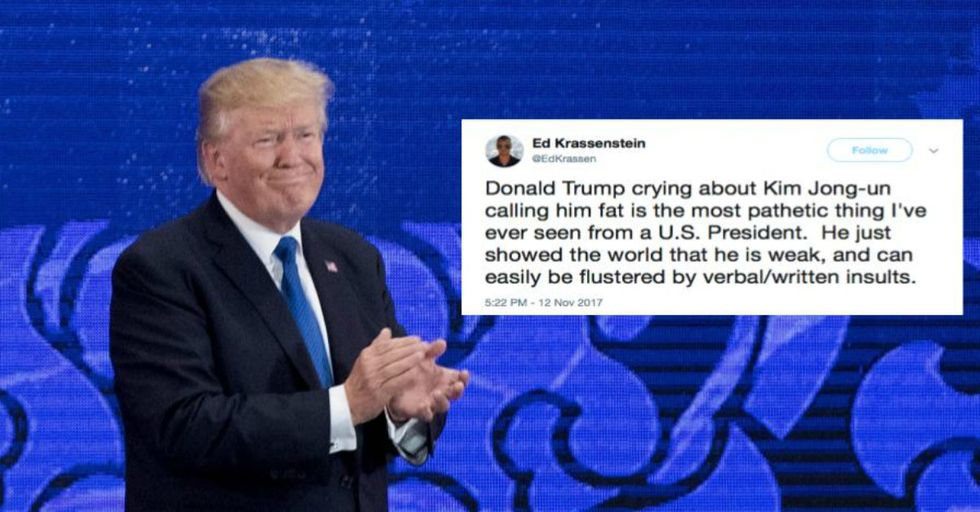 Donald Trump Just Pulled a 'Mean Girls' on Kim Jong Un With This Bizarre, Personal Tweet