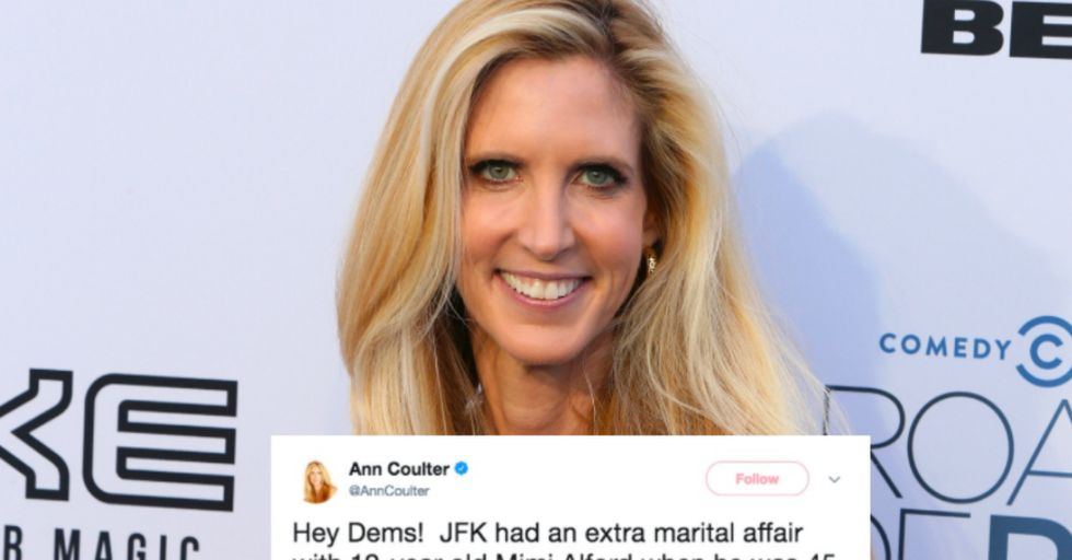 Ann Coulter Faces Crazy Backlash After Comparing Roy Moore to JFK