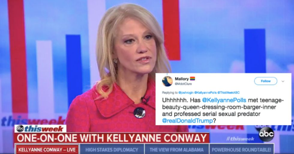 Here's Why Kellyanne Conway Just Called for Trump to 'Step Aside'