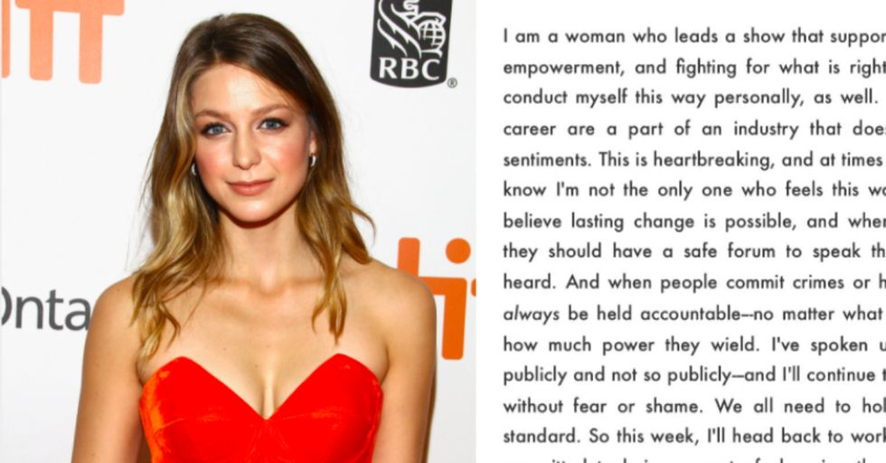 'Supergirl' Star Melissa Benoist Made This Powerful Statement After Allegations Against Show's Producer Surfaced