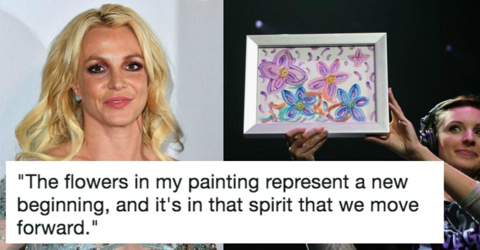 This Celebrity Just Bought Britney Spears' Painting for an Obscene Amount of Money