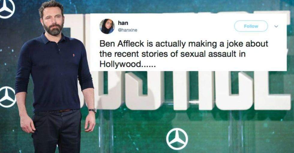 People Are Furious with Ben Affleck For This Tasteless Sexual Harassment Joke He Just Made in an Interview