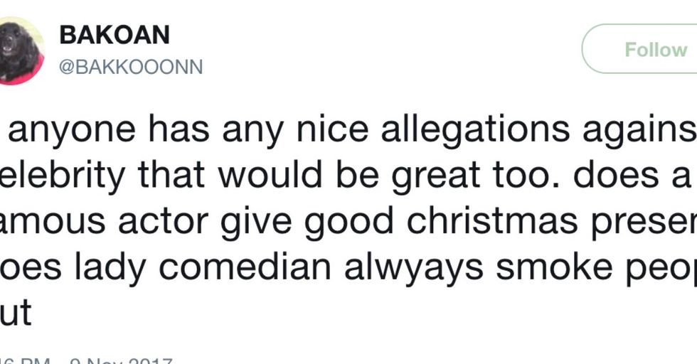 Twitter Just Exploded With Hilarious 'Nice Allegations' Against Celebrities Who Have Done Nothing Wrong