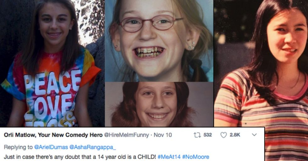 Viral #MeAt14 Hashtag Illustrates Why the Roy Moore Sex Allegations Are so Disgusting