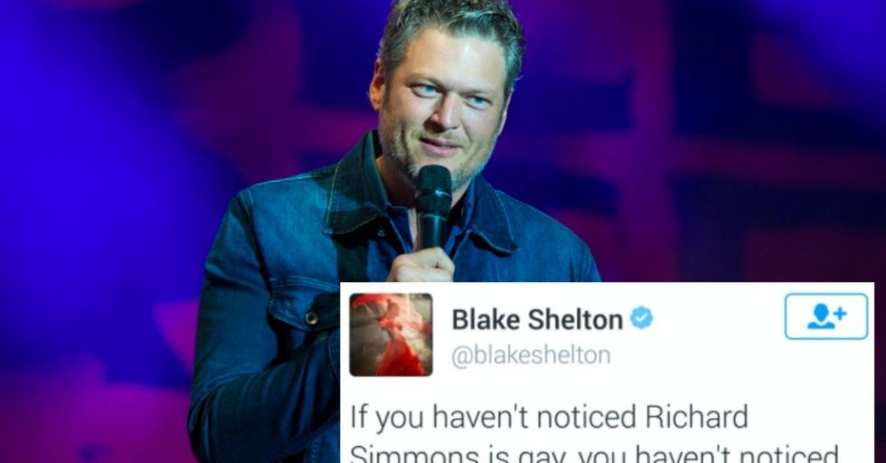 'Sexiest Man Alive' Blake Shelton's Racist and Anti-Gay 'Jokes' on Twitter Are Causing an Uproar
