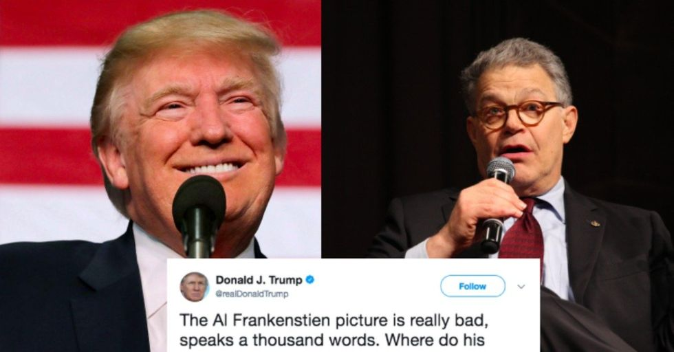 Trump Tweeted About Al Franken Assault Allegations, and That Was a Big Mistake