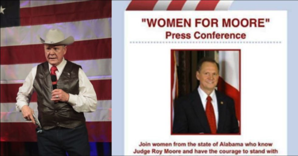 Accused Pedophile Roy Moore Is Hosting a Women's Rally and Twitter Cannot Handle the Irony
