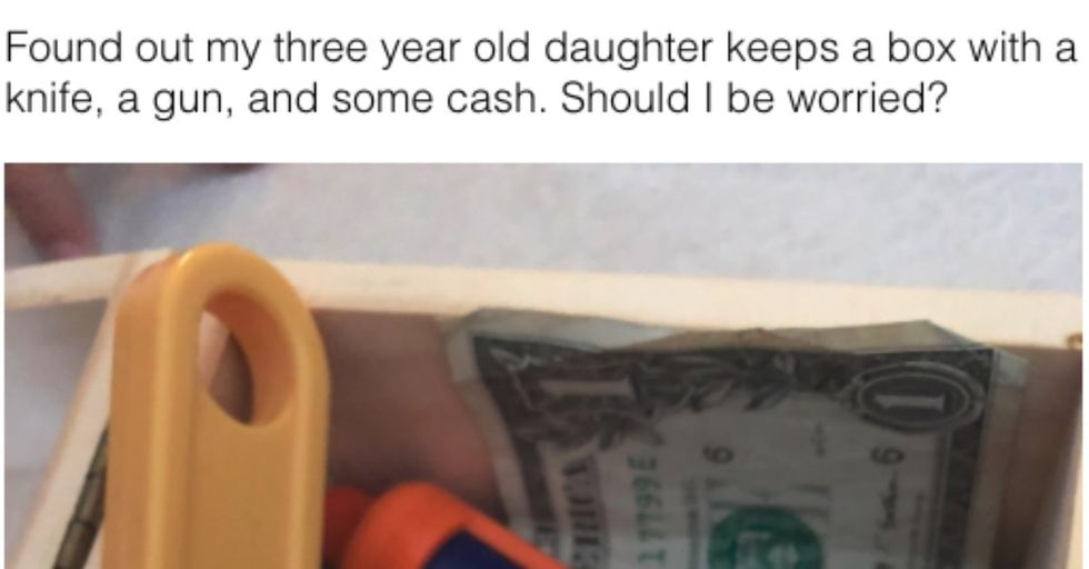 This Dad Stumbled Upon His 3-Year-Old's Secret 'Cut and Run Stash' of Cash and Guns