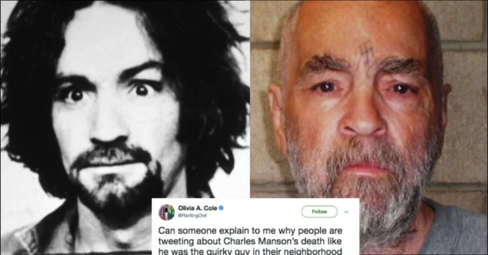 Murderous Cult Leader Charles Manson Has Died, and People Are Very Divided About It