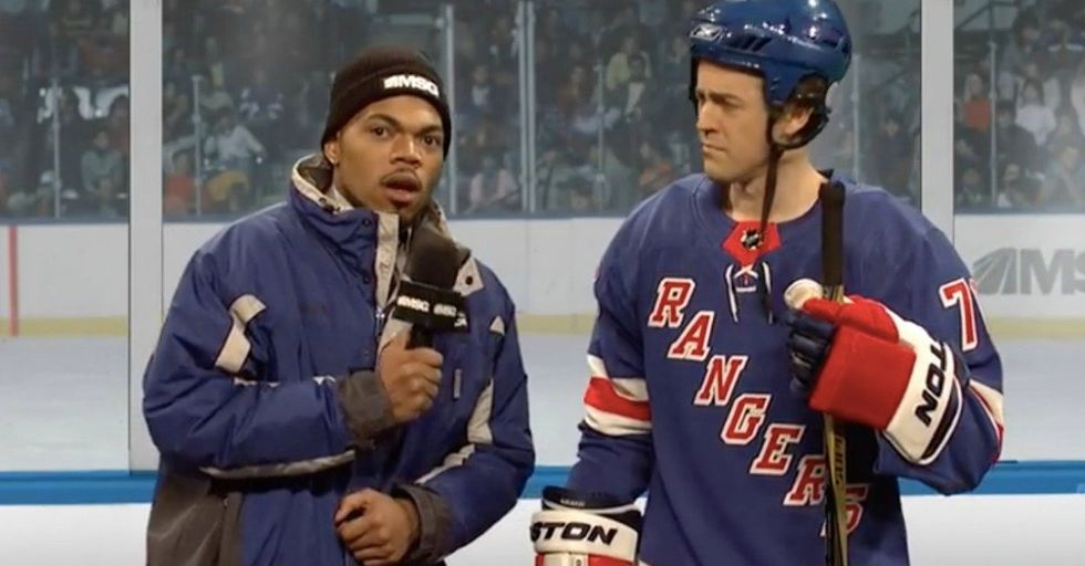 Chance The Rapper's SNL Sketch Hilariously Shows Why Some People Just Don't Get Hockey