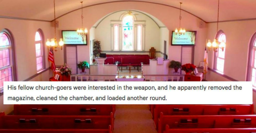 During a Discussion About Guns in Church, This Man Did Something Horrifyingly Ironic