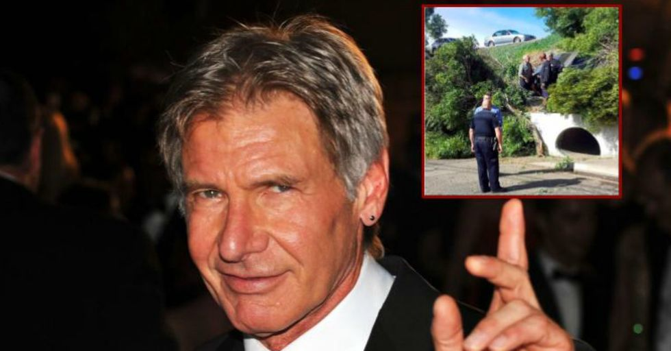Harrison Ford Just Rescued a Woman From Car Accident in a Real-Life Hero Move