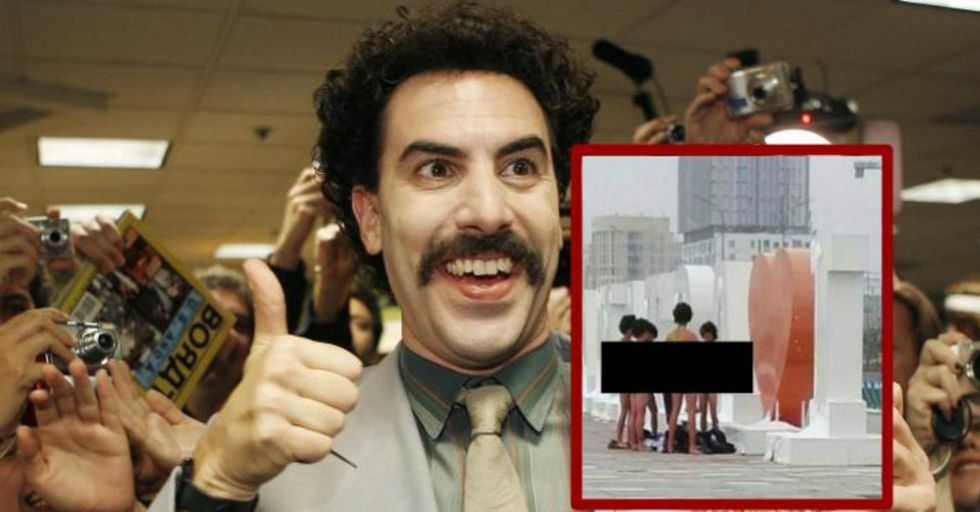 These Tourists Were Arrested for Wearing Mankinis in Homage to 'Borat' — and Then Something Miraculous Happened