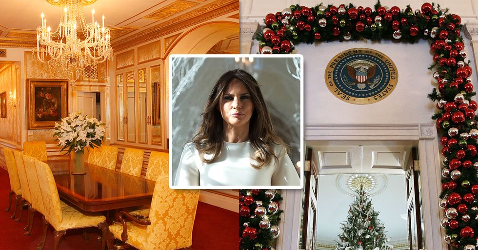 Here's What the White House Decorations Look Like Under Trump's Regime