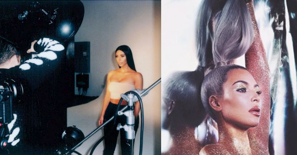 Kim Kardashian Wore Nothing but Glitter for a Brand New Photo Shoot