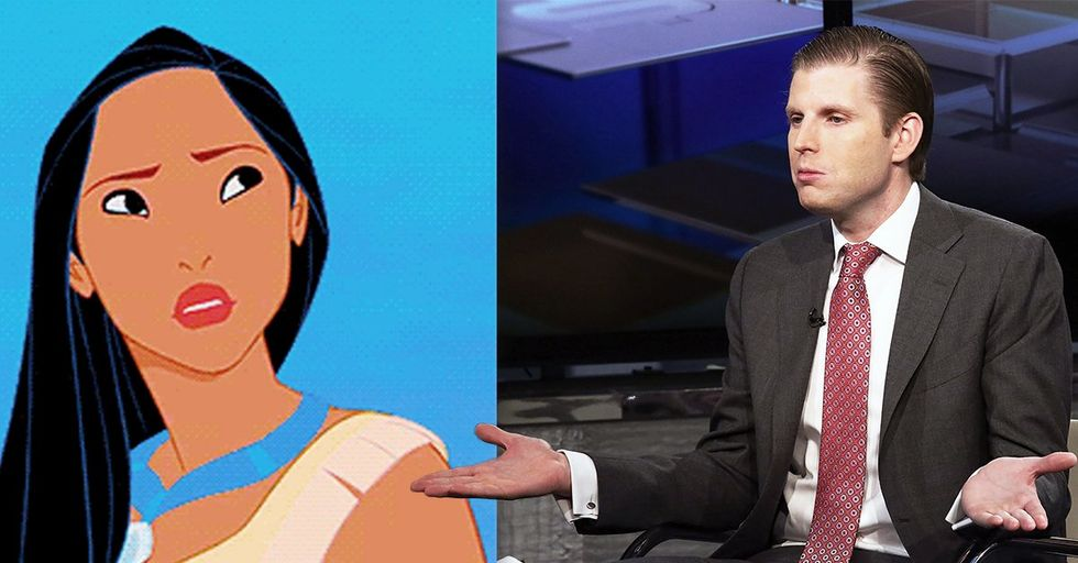 Eric Trump's Reply to His Dad's 'Pocahontas' Fiasco Has People Scratching Their Heads
