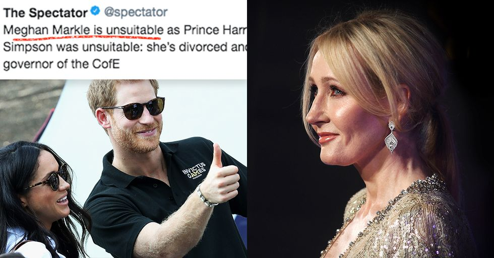 J.K. Rowling Had the Perfect Response to People Calling Meghan Markle 'Unsuitable'