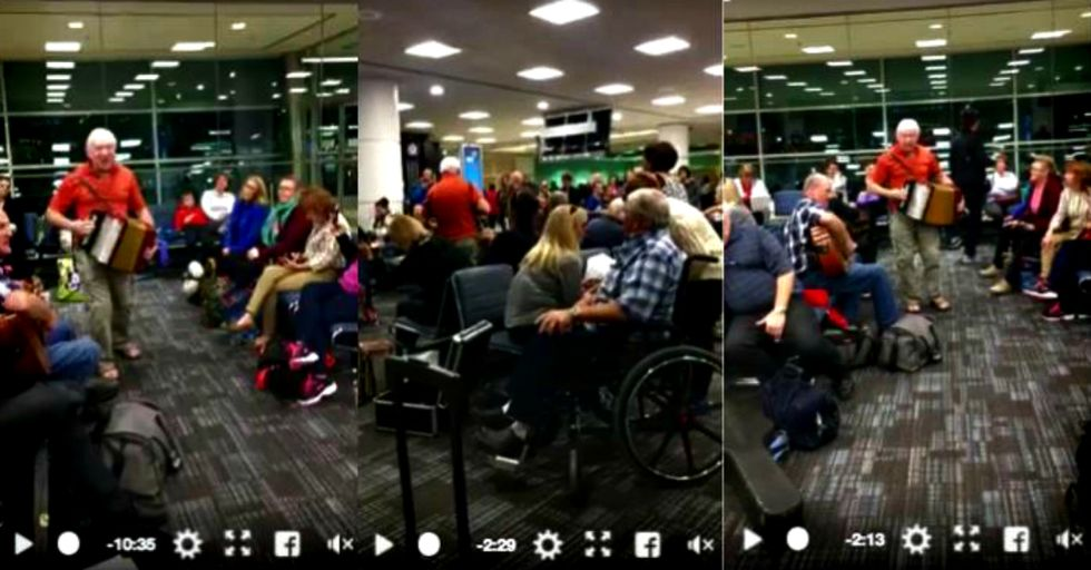 After Their Flight Was Delayed, These Musicians Turned Their Terminal Into a Jubilant Accordion Party