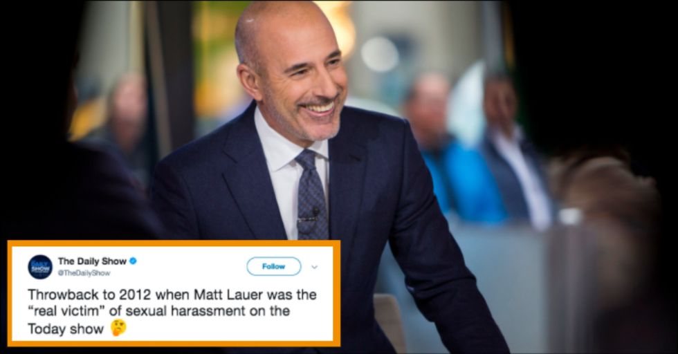 Watch Matt Lauer Spoof Sexual Harassment in This Cringeworthy Video from 2012