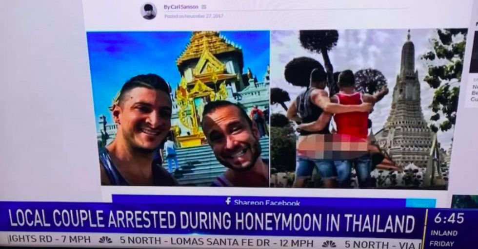 American Couple Arrested for Committing THIS Disrespectful Act at Buddhist Temple in Thailand