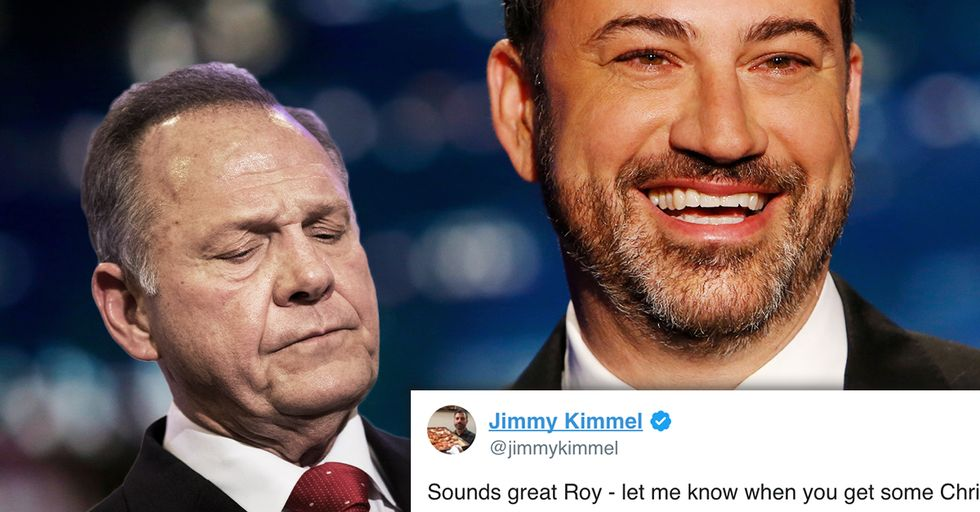 Jimmy Kimmel Just Said He'd Go to Alabama to Fight Roy Moore