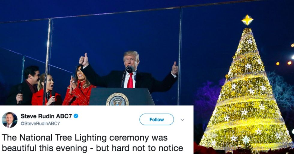 Something Went Very Wrong With the White House Christmas Tree Lighting Ceremony