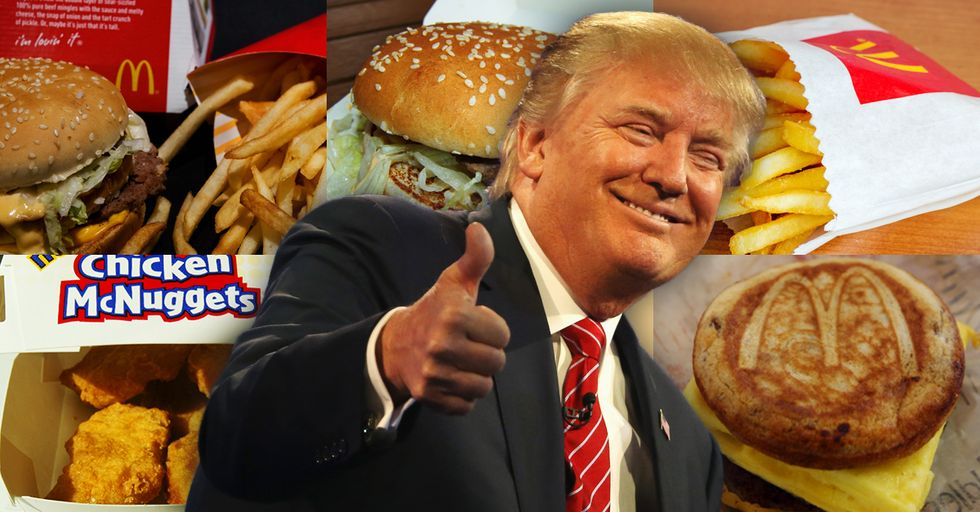 Donald Trump's McDonald's Dinner Order Contains Enough Calories to Feed a Normal Human for an Entire Day