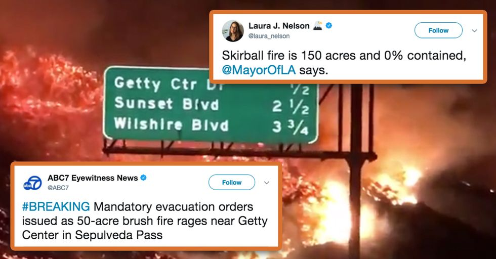 There Are Multiple Wildfires Raging in Los Angeles Right Now and the Footage Is Jaw-Dropping