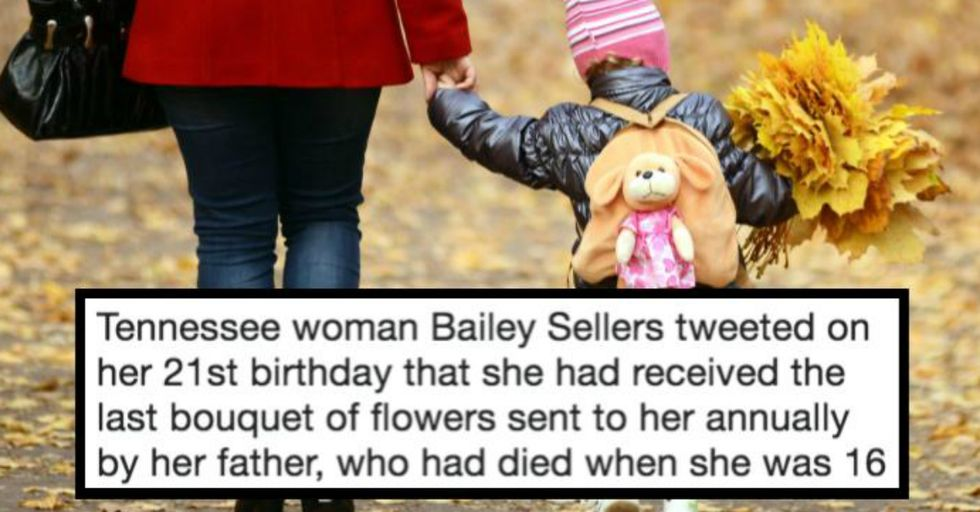 This Girl's Father Passed Away, but Because of His Final Act, She's Still Receiving Birthday Bouquets From Him Five Years Later