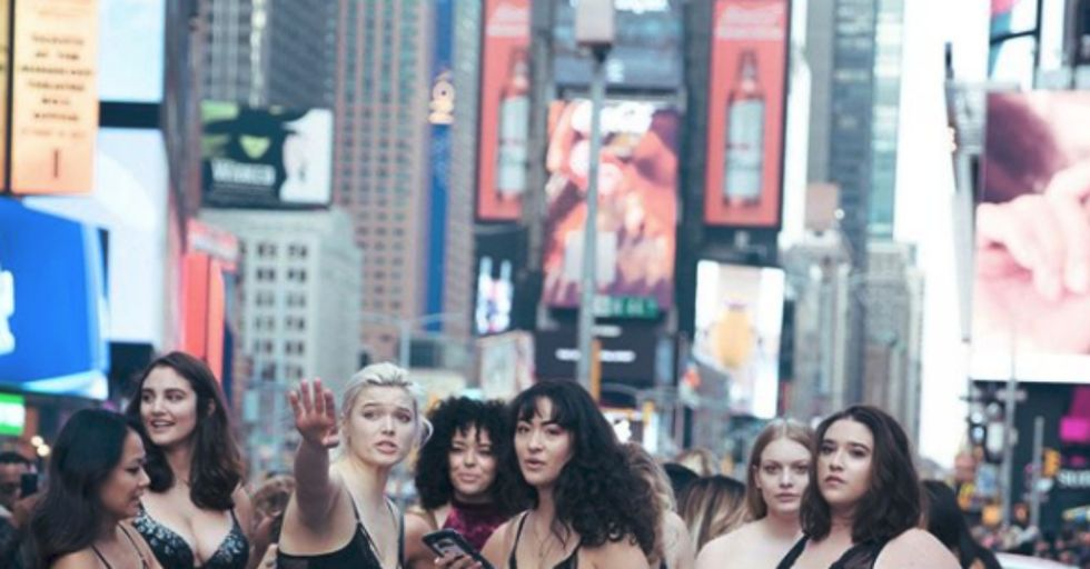 Why Were These Models Strutting Through New York's Times Square in Their Underwear?