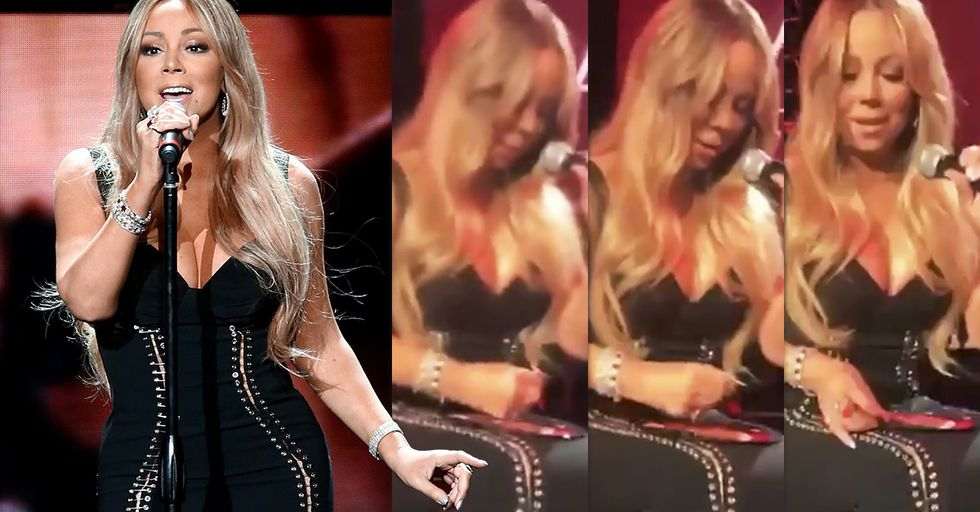 The Internet Is Losing Its Mind Over This Mariah Carey 'Invisible Chair' Optical Illusion