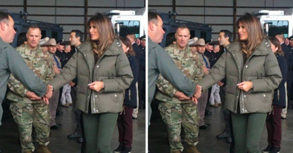 Melania Chose This Completely Inappropriate Footwear to Visit Hurricane Victims in Texas
