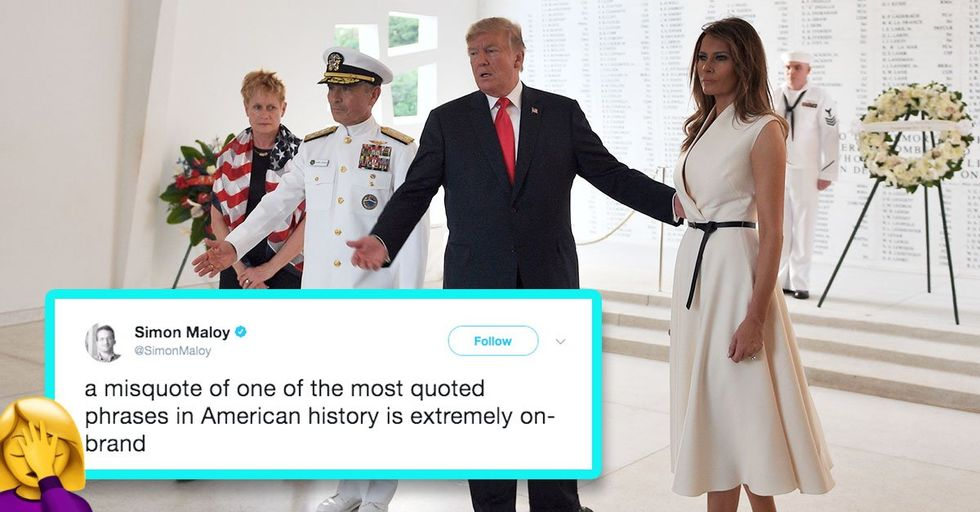 Both Donald and Melania Got Their Tweets Remembering Pearl Harbor Day Very Very Wrong