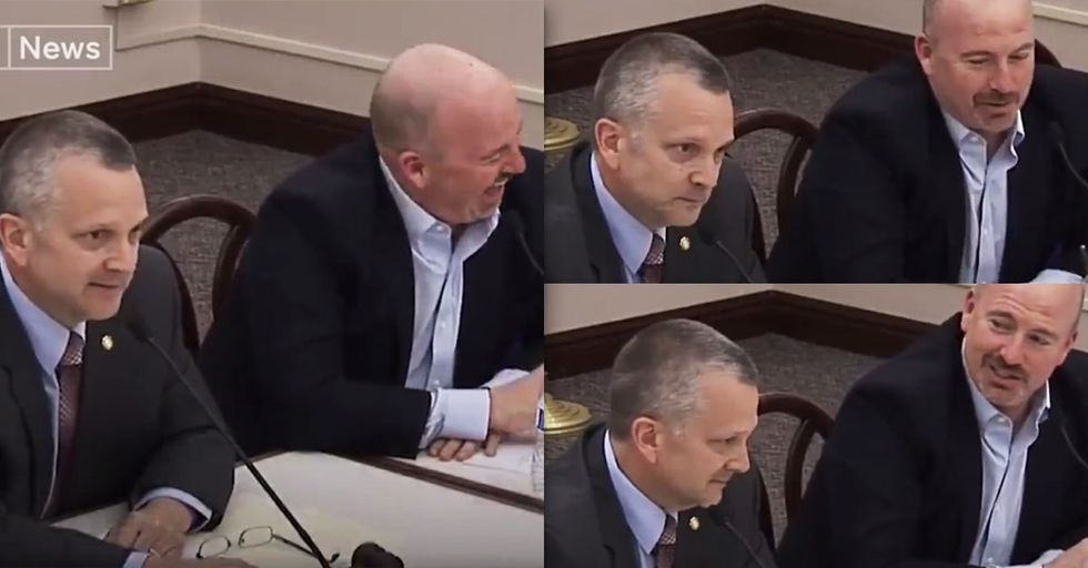 Watch This Republican Congressman Freak Out Over His Colleague Gently Touching His Arm
