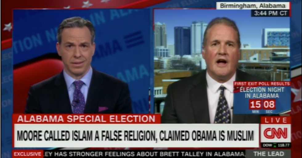 Roy Moore Spokesperson Completely Malfunctions After Being Corrected by Jake Tapper