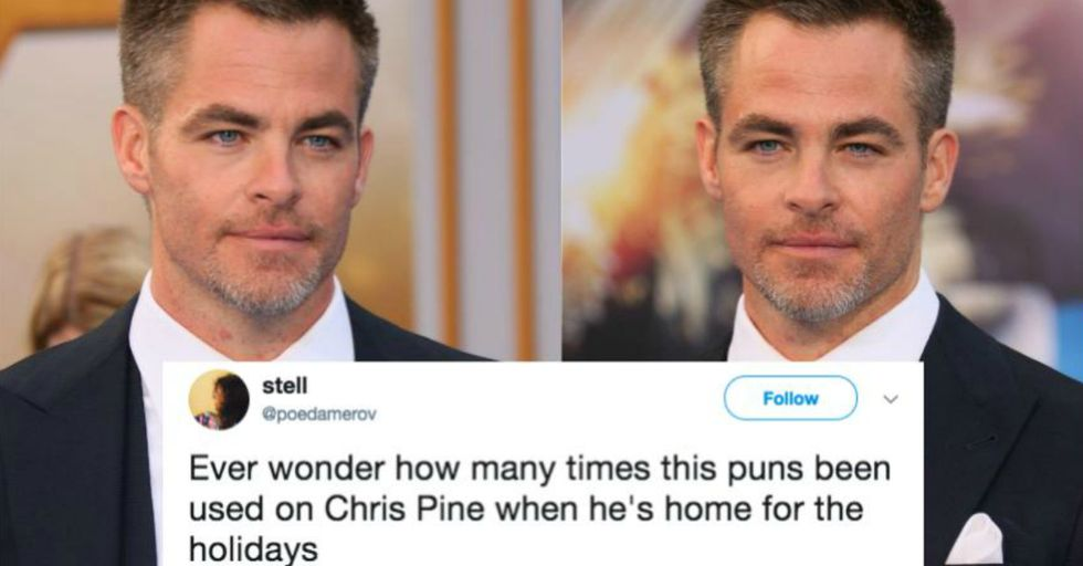 This Is the Hilarious Way People Are Showing Their Love of Chris Pine During the Holidays