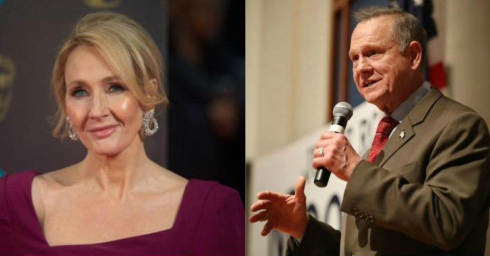 After Roy Moore Refused to Concede the Alabama Election, J.K. Rowling Stepped in with the Perfect Response