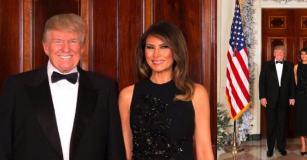 There's Something Glaring Missing From the Trump Family Christmas Photo