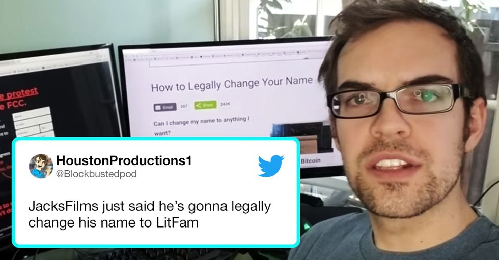 A Man Just Promised He Would Change His Name to 'Litfam' If This Momentous Thing Happened