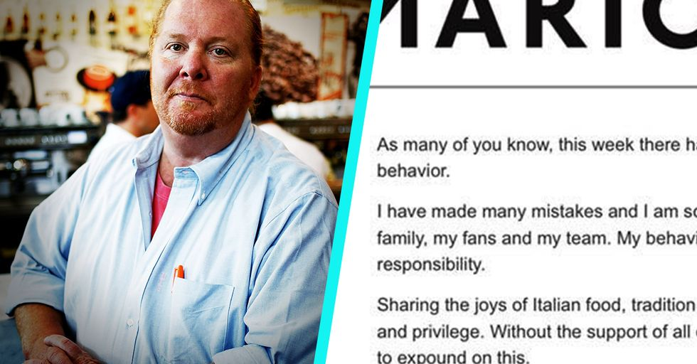 People Can't Get over Mario Batali's Completely Tasteless Sexual Harassment Apology