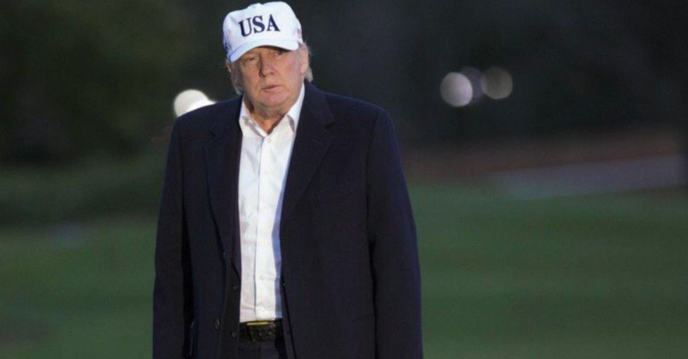 The Internet Is Having a Field Day Captioning This Photo of Sad Donald Trump on a Golf Course