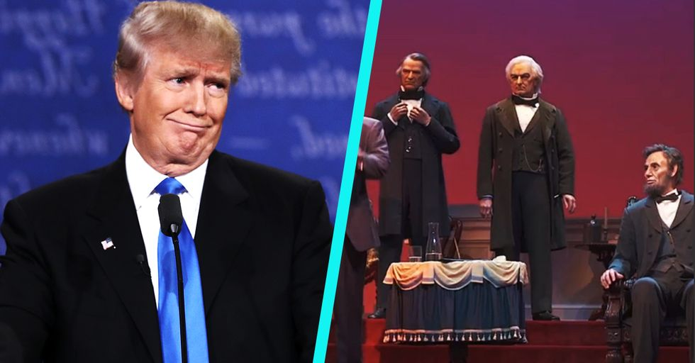 There Is Something Seriously Wrong with the New Statue of Trump in Disney's Hall of Presidents